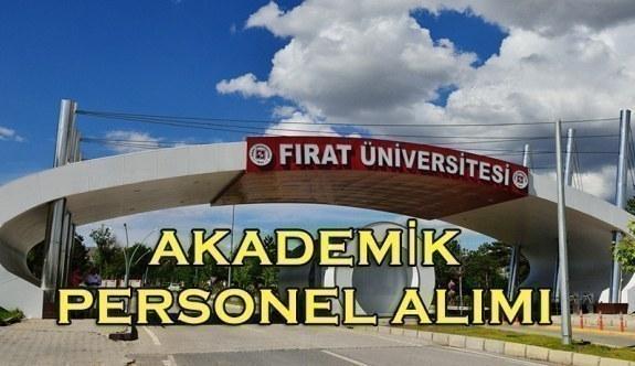 Fırat Üniversitesi Akademik Personel Alımı Yapacak