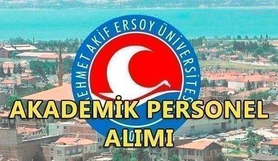 Mehmet Akif Ersoy Üniversitesi akademik personel alacak