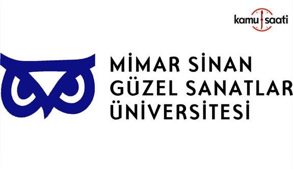 Mimar Sinan Güzel Sanatlar Üniversitesi Ön Lisans ve Lisans Yaz Öğretimi Yönetmeliğinde Değişiklik Yapıldı - 19 Şubat 2018