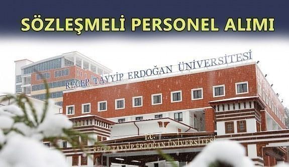 Recep Tayyip Erdoğan Üniversitesi sözleşmeli personel alımı yapacak
