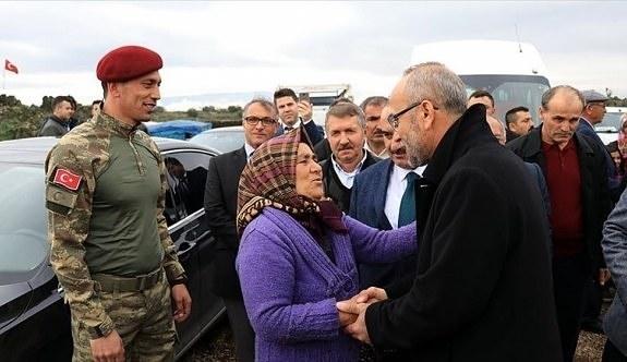 Şehit ailelerinden Zeytin Dalı Harekatı'na anlamlı destek