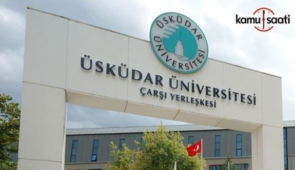 Üsküdar Üniversitesi Lisansüstü Eğitim-Öğretim ve Sınav Yönetmeliğinde Değişiklik Yapıldı - 4 Şubat 2018