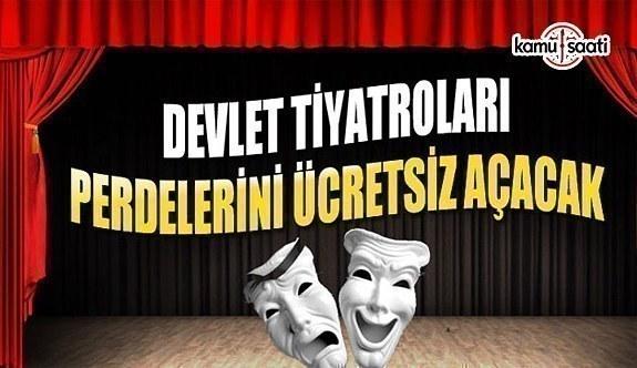 27 Mart Dünya Tiyatro Günü'nde perdeler ücretsiz açılacak