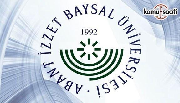 Abant İzzet Baysal Üniversitesi Önlisans Eğitim-Öğretim ve Sınav Yönetmeliğinde Değişiklik Yapıldı - 11 Mart 2018