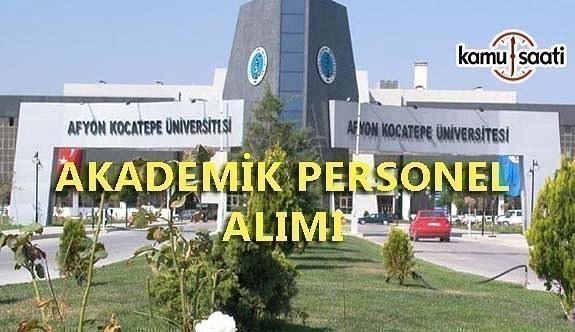 Afyon Kocatepe Üniversitesi Sözleşmeli Personel Alacak