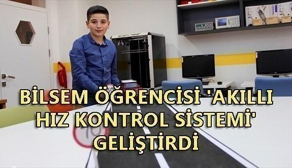 BİLSEM öğrencisi 'akıllı hız kontrol sistemi' geliştirdi
