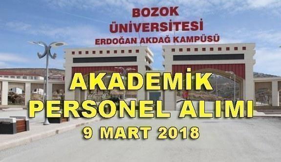 Bozok Üniversitesi 38 akademik personel alımı yapacak