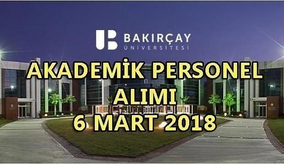İzmir Bakırçay Üniversitesi akademik personel alım ilanı