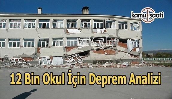 MEB 12 bin okulu deprem riskine karşı analiz etti