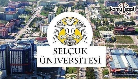 Selçuk Üniversitesi Öğretim Üyesi İlanı - 9 Mart 2018