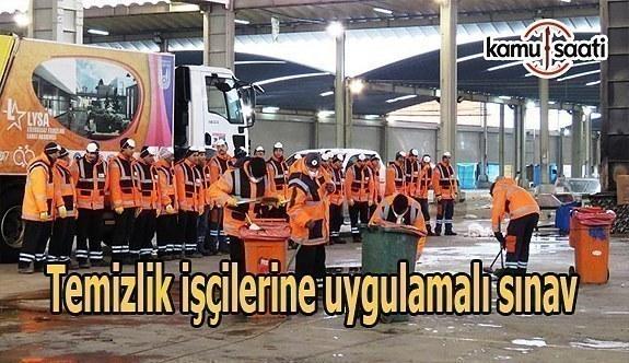 Temizlik işçilerine uygulamalı sınav
