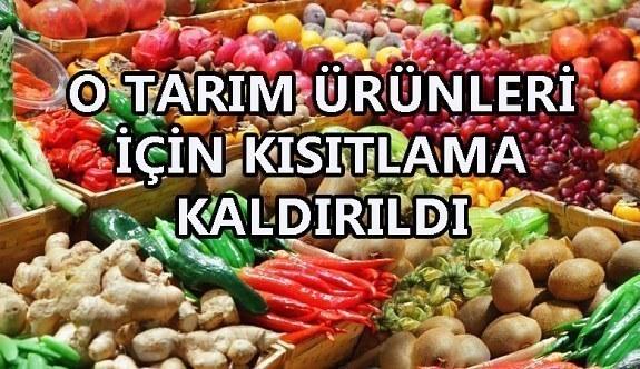 Türkiye'deki bazı tarım ürünleri için uygulanan kısıtlama kalktı! Rusya...