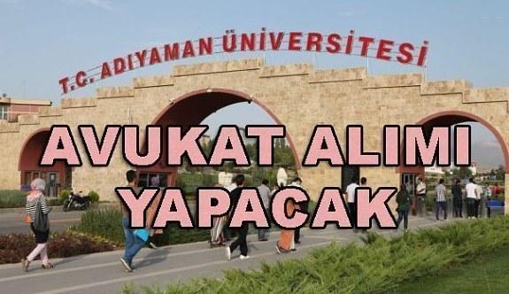 Adıyaman Üniversitesi Rektörlüğü Avukat Alım İlanı - 4 Nisan 2018