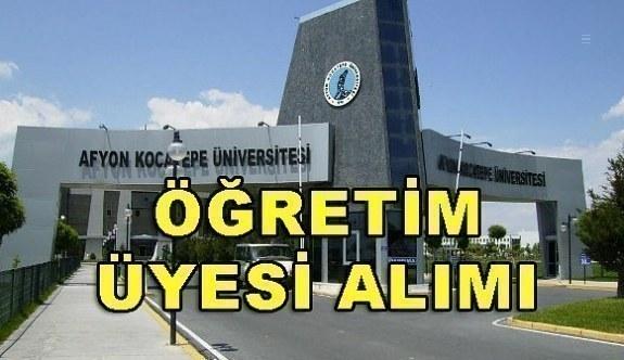 Afyon Kocatepe Üniversitesi akademik personel alım ilanı - 17 Nisan 2018