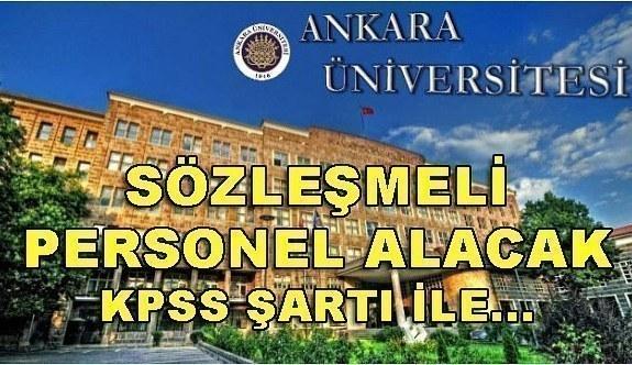 Ankara Üniversitesi 204 Sözleşmeli Personel Alacak - 24 Nisan 2018