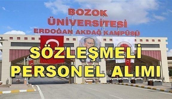 Bozok Üniversitesi 102 Sözleşmeli Personel Alacak - 16 nisan 2018