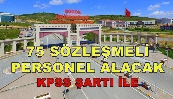 Bozok Üniversitesi 75 Sözleşmeli Personel Alacak - 6 Nisan 2018