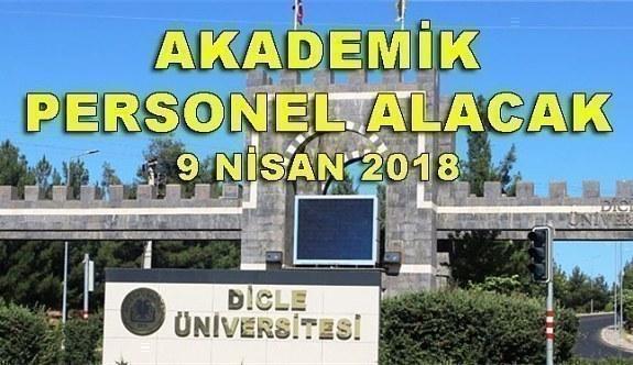 Dicle Üniversitesi 37 Akademik Personel Alacak - 9 Nisan 2018
