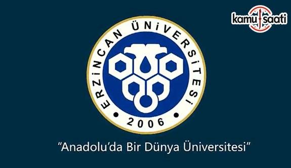 Erzincan Üniversitesi'ne Ait 2 yönetmelik Resmi Gazete'de yayımlandı - 8 Nisan 2018 Pazar