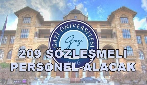Gazi Üniversitesi 209 Sözleşmeli Personel Alacak - 6 Nisan 2018
