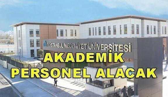 İstanbul Medeniyet Üniversitesi Akademik Personel Alımı - 6 Nisan 2018