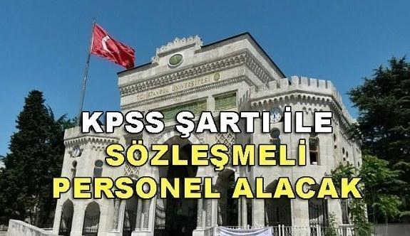 İstanbul Üniversitesi 301 Sözleşmeli Personel Alacak - 4 Nisan 2018