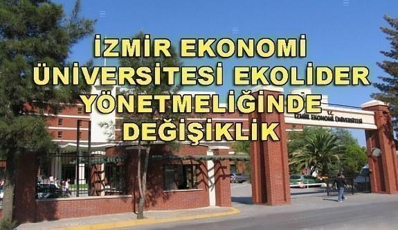 İzmir Ekonomi Üniversitesi EKOLİDER Yönetmeliğinde Değişiklik