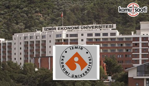 İzmir Ekonomi Üniversitesi'ne ait 4 yönetmelik Resmi Gazete'de yayımlandı - 2 Nisan 2018 Pazartesi
