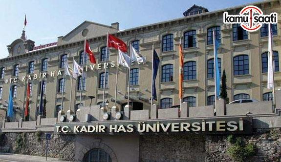 Kadir Has Üniversitesi Ön Lisans ve Lisans Eğitim ve Öğretim Yönetmeliğinde Değişiklik Yapıldı - 14 Nisan 2018 Cumartesi