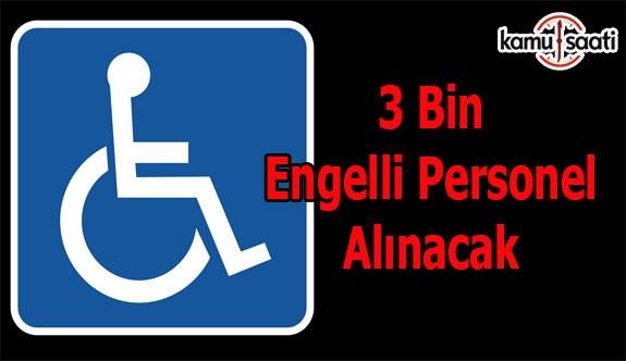 Kamuya 3 bin engelli memur daha alınacak!