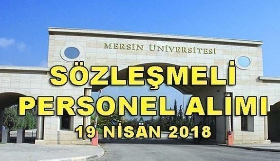 Mersin Üniversitesi 195 Sözleşmeli Personel Alacak - 19 Nisan 2018