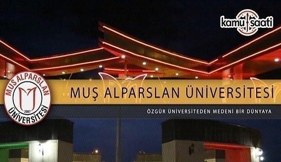 Muş Alparslan Üniversitesi 24 Akademik Personel Alımı - 11 Nisan 2018