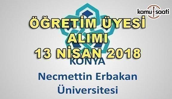Necmettin Erbakan Üniversitesi 210 Sözleşmeli Personel Alımı - 13 Nisan 2018
