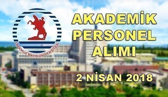 Ondokuz Mayıs Üniversitesi 36 Akademik Personel Alacak - 2 Nisan 2018