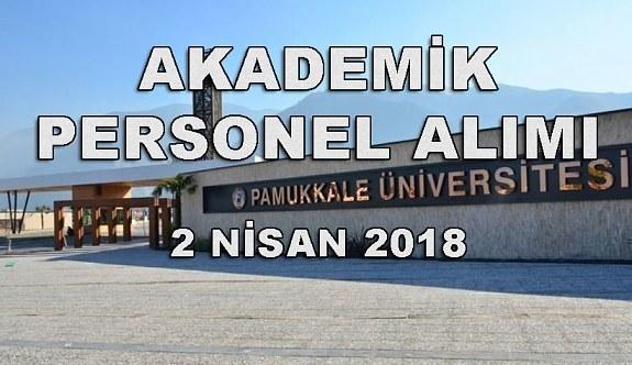 Pamukkale Üniversitesi 19 Akademik Personel Alacak - 2 Nisan 2018