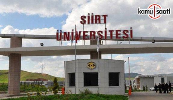 Siirt Üniversitesi Lisansüstü Eğitim-Öğretim ve Sınav Yönetmeliği - 16 Nisan 2018 Pazartesi