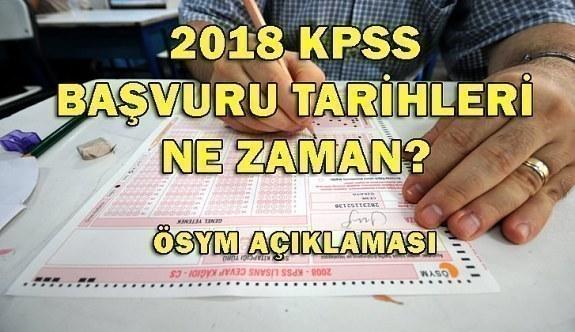 2018 KPSS başvuru tarihleri ne zaman? İşte ÖSYM açıklaması