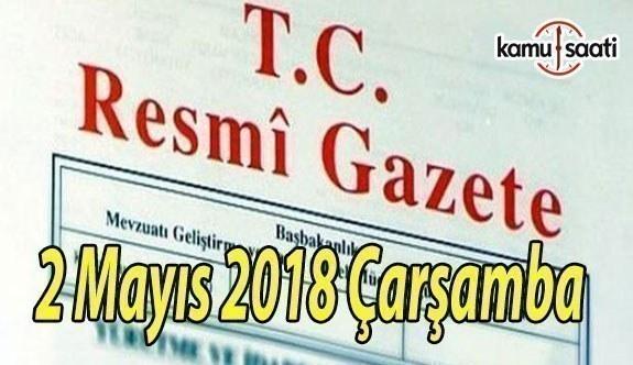 2 Mayıs 2018 Çarşamba Tarihli ve 30409 Sayılı TC Resmi Gazete Kararları