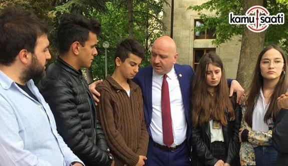 AK Parti Ordu Milletvekili Metin Gündoğdu, şehit çocuklarını TBMM'de buluştu