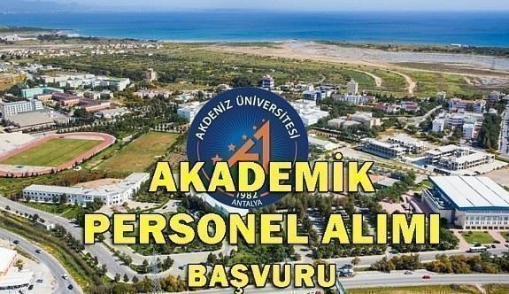 Akdeniz Üniversitesi 8 Akademik Personel Alım İlanı - 10 Mayıs 2018