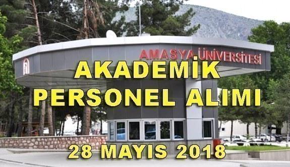 Amasya Üniversitesi 17 Akademik Personel Alımı Yapacak - 28 Mayıs 2018