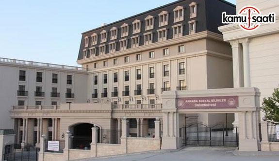 Ankara Sosyal Bilimler Üniversitesi İnsan Kaynakları ve Strateji Uygulama ve Araştırma Merkezi Yönetmeliği - 28 Mayıs 2018 Pazartesi