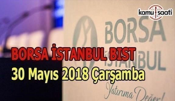 Borsa güne düşüşle başladı Borsa İstanbul BİST 30 Mayıs 2018 Çarşamba