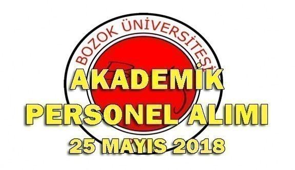 Bozok Üniversitesi 36 Akademik Personel Alımı - 25 Mayıs 2018
