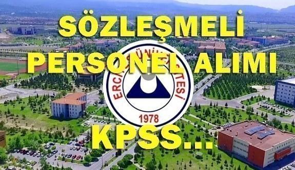Erciyes Üniversitesi Sözleşmeli Personel Alımı - Başvuru şartları