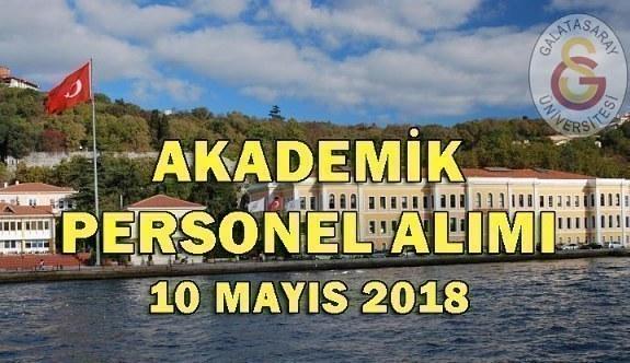 Galatasaray Üniversitesi Akademik Personel Alacak - 10 Mayıs 2018