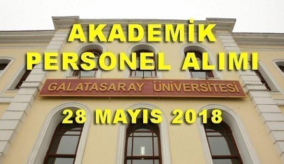 Galatasaray Üniversitesi Akademik Personel Alım İlanı - 28 Mayıs 2018