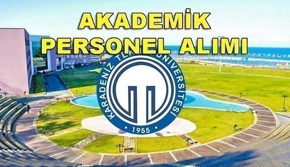 Karadeniz Teknik Üniversitesi Akademik Personel Alacak - 2 Mayıs 2018