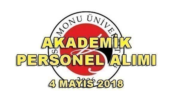 Kastamonu Üniversitesi 10 Akademik Personel Alım İlanı - 4 Mayıs 2018