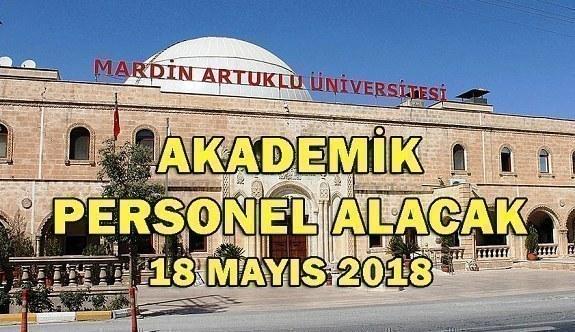Mardin Artuklu Üniversitesi Akademik Personel Alacak - 18 Mayıs 2018